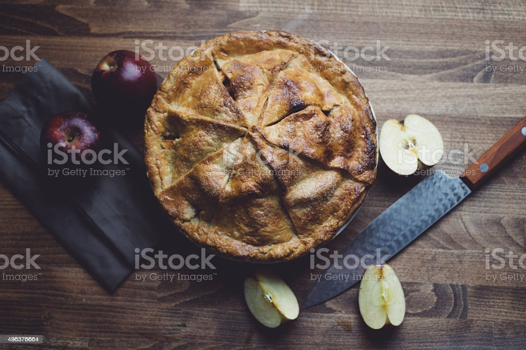 Thanksgiving Apple Pie stock photo