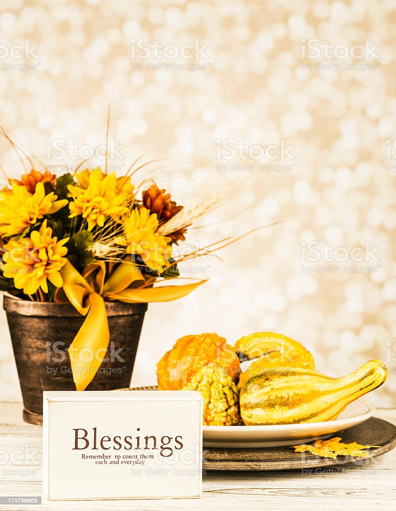 Thanksgiving Arrangement: Count Your Blessings royalty-free stock photo