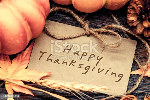 istock Thanksgiving background, Harvest vintage and country style 613534024