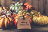 istock Thanksgiving background with metallic pumpkins 844645148