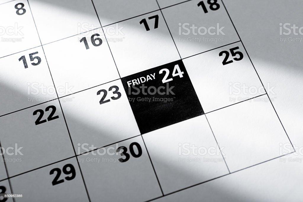 2017, 2023 Thanksgiving Black Friday November 24 Christmas Shopping Calendar стоковое фото