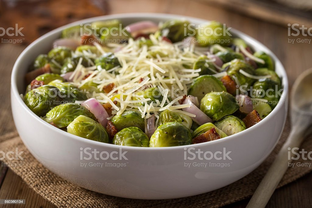 Thanksgiving Brussels Sprouts stock photo