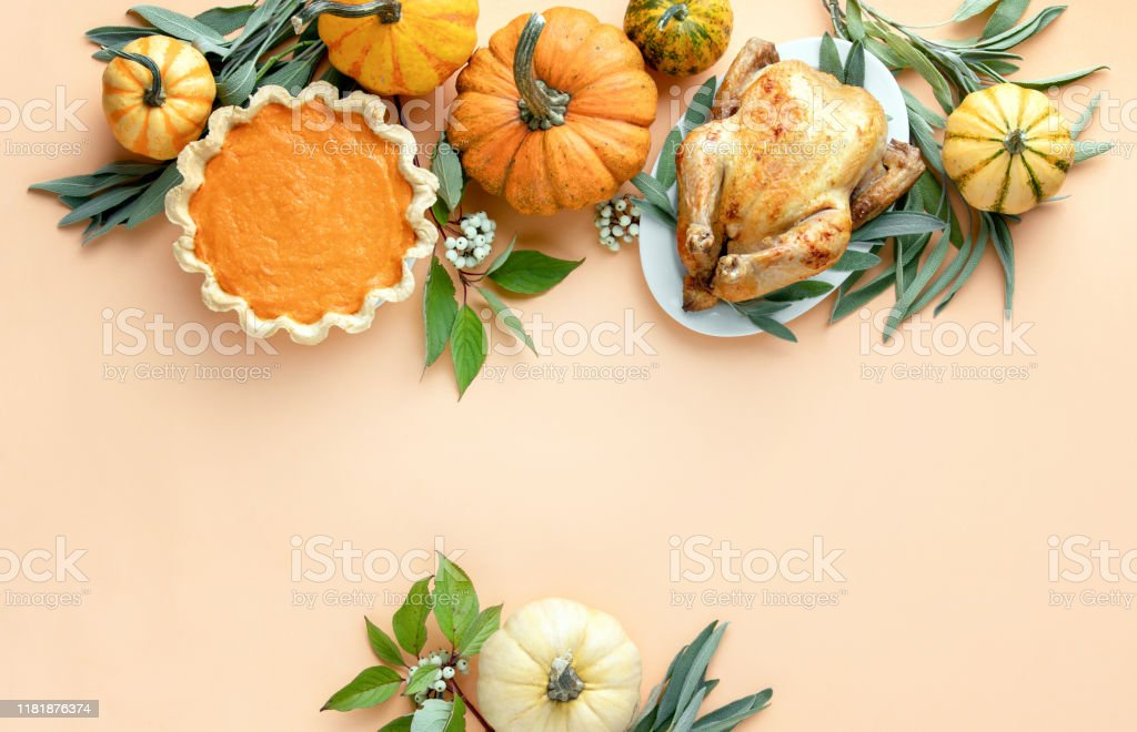 Thanksgiving card or invitation template with a copy space for a greeting text - Zbiór zdjęć royalty-free (Aranżować)