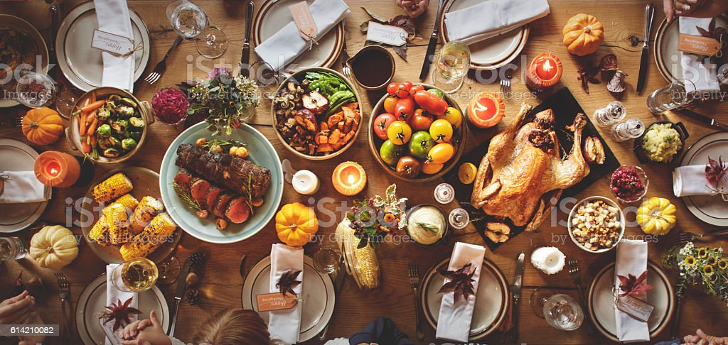 Thanksgiving Celebration Traditional Dinner Table Setting Concep royalty-free stock photo & Thanksgiving Celebration Traditional Dinner Table Setting Concep ...