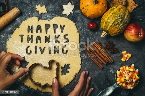 istock Thanksgiving concept - baking ingredients and symbols 873913922