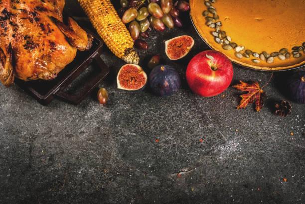 thanksgiving day essen - tagesgericht stock-fotos und bilder