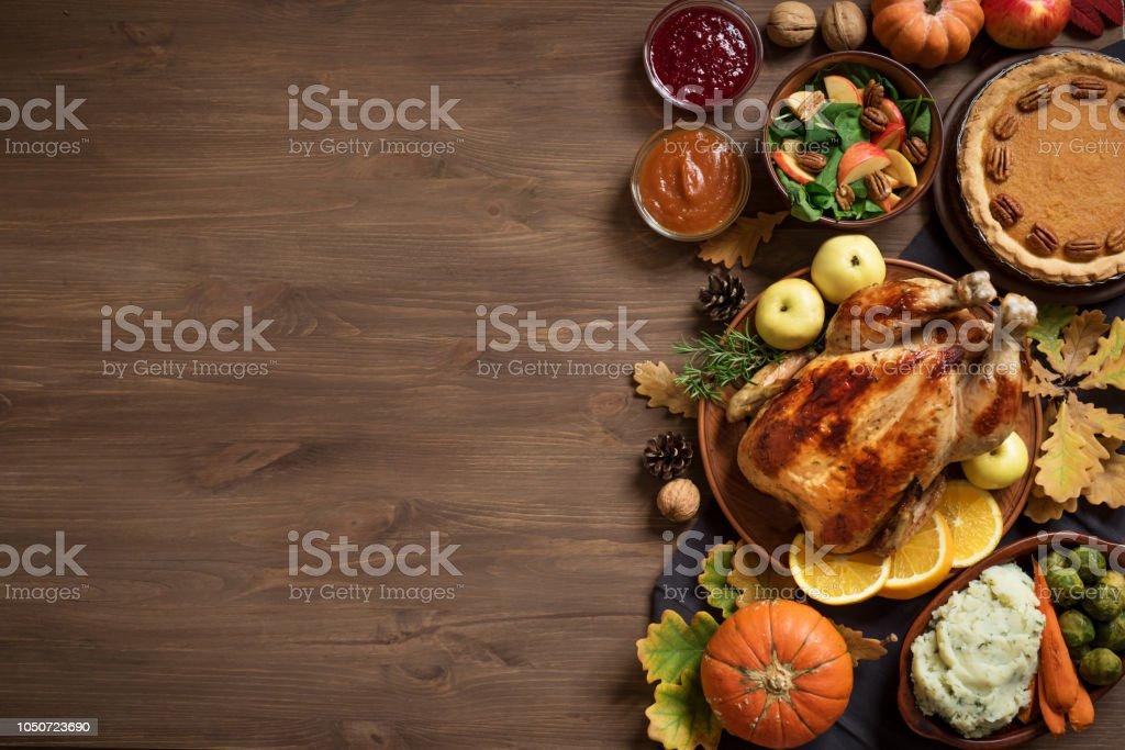 Thanksgiving Dinner background stock photo