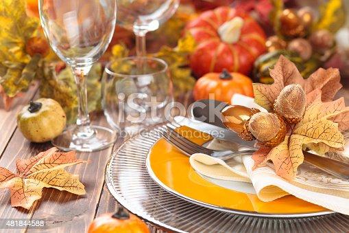 istock Thanksgiving dinner decoration. 481844588