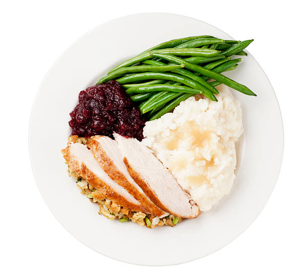 thanksgiving dinner - plate stock pictures, royalty-free photos & images
