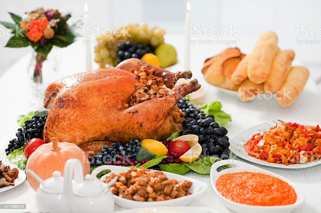 Thanksgiving Dinner. stock photo