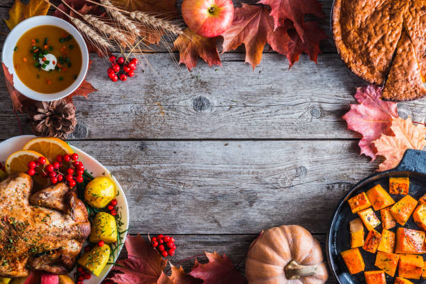 thanksgiving dinner - thanksgiving stock photos and pictures