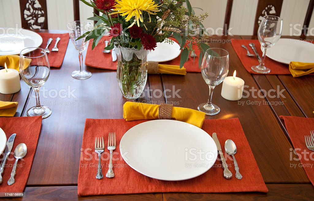 Thanksgiving Dinner Place Setting royalty-free stock photo