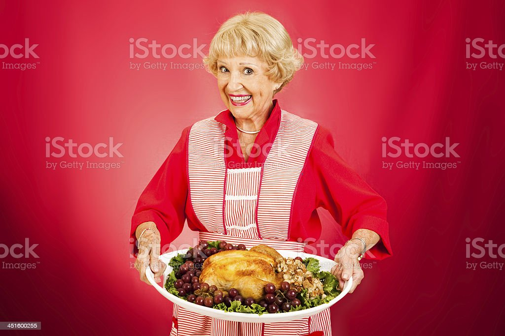Thanksgiving Dinner with Grandma stock photo