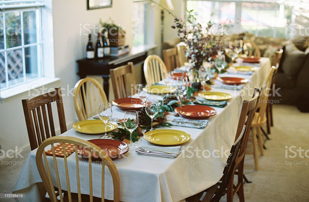 Thanksgiving, Easter, Christmas Holiday table stock photo