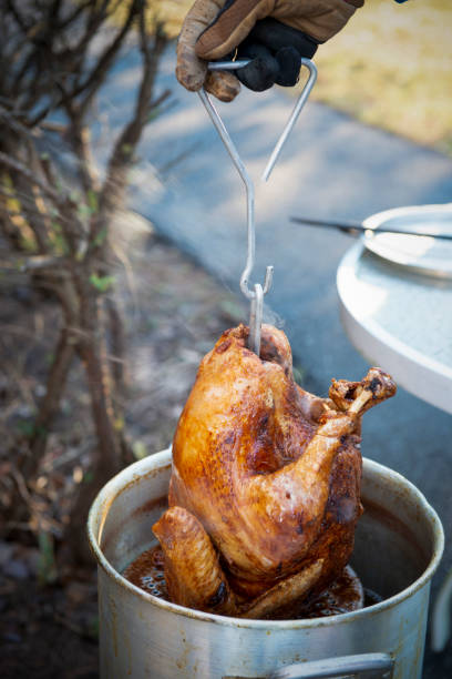 Thanksgiving Fried Turkey stock photo