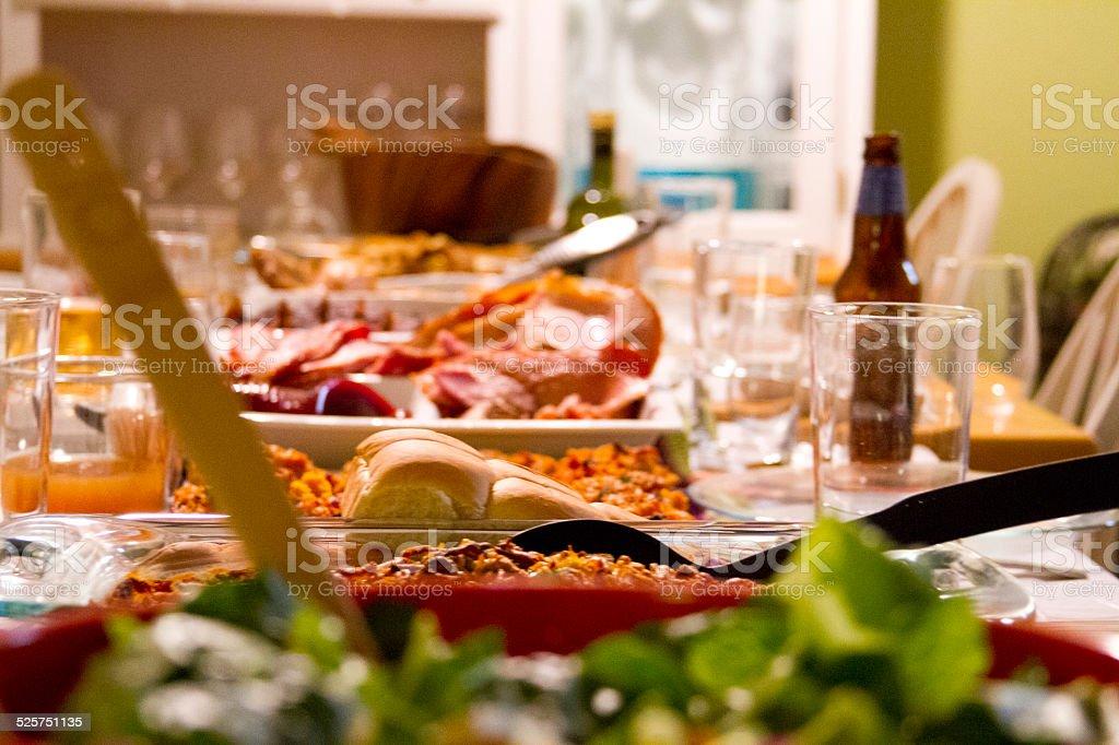 Comida del día de acción de gracias - Foto de stock de Alimento libre de derechos