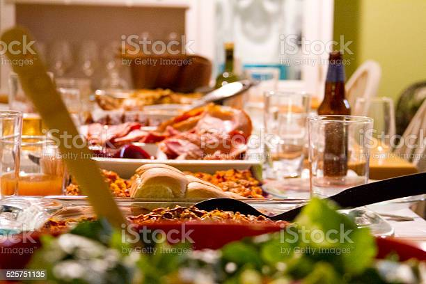 Comida Del Día De Acción De Gracias Foto de stock y más banco de imágenes de Alimento