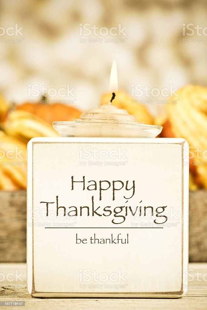 Thanksgiving Message: Be Thankful royalty-free stock photo