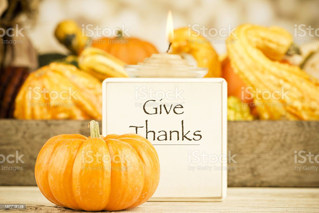 Thanksgiving Message: Give Thanks royalty-free stock photo