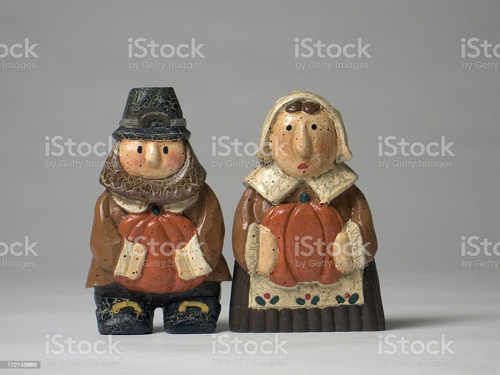 Thanksgiving Pilgrims stock photo