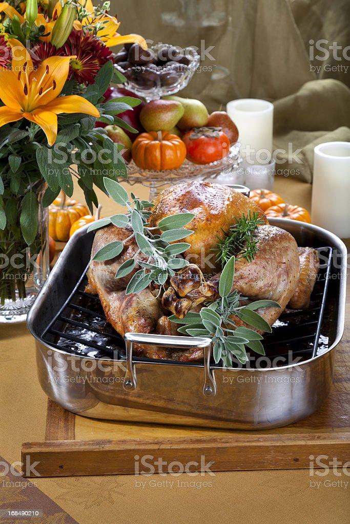 Thanksgiving Roast Turkey Dinner royalty-free stock photo