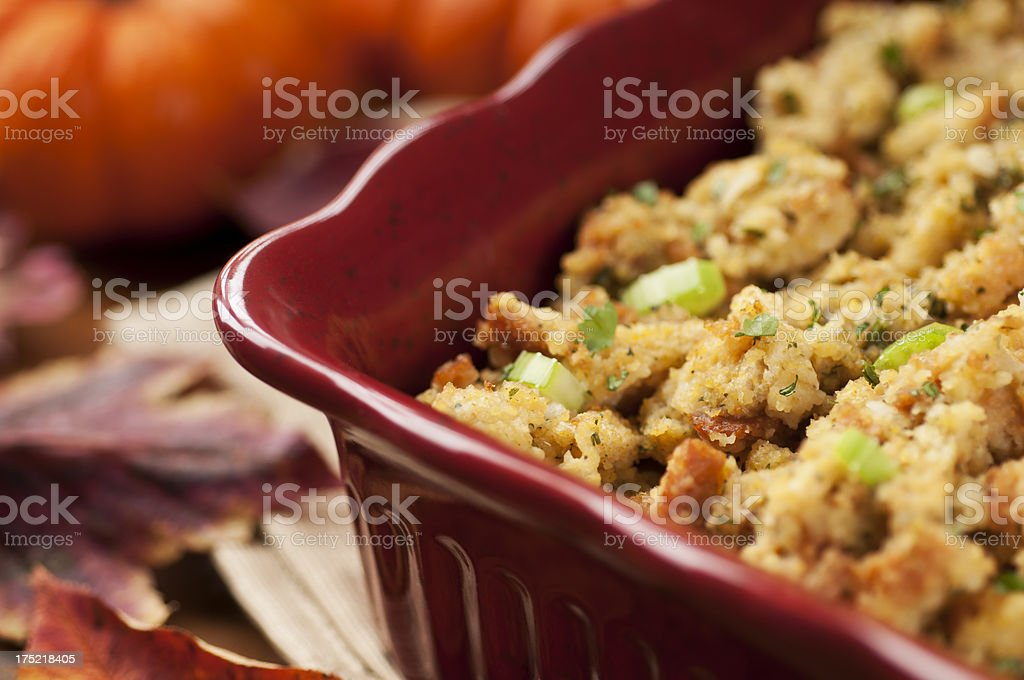 Thanksgiving Stuffing stock photo