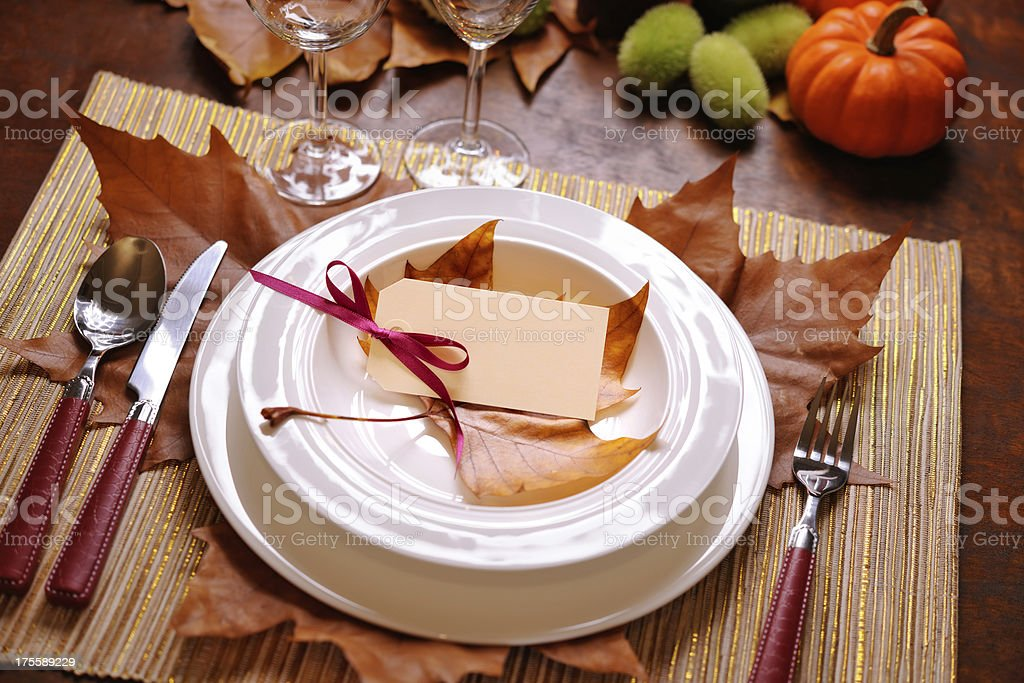 Thanksgiving table royalty-free stock photo