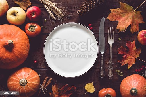 istock Thanksgiving table setting 848764526
