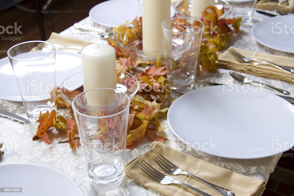 Thanksgiving Table Setting royalty-free stock photo