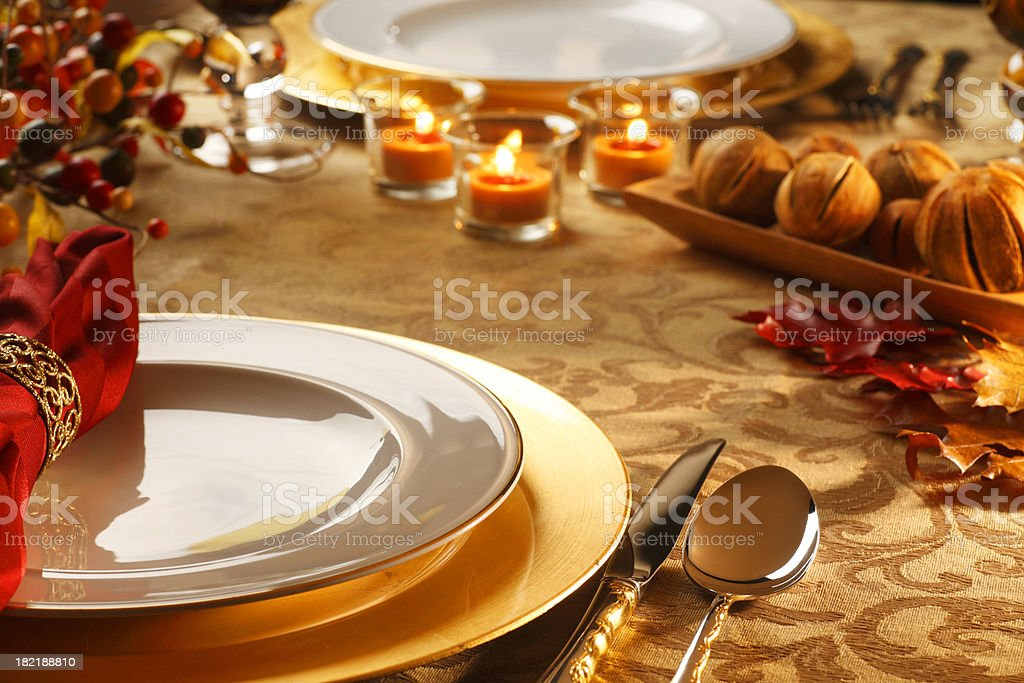 Thanksgiving Tablesetting royalty-free stock photo