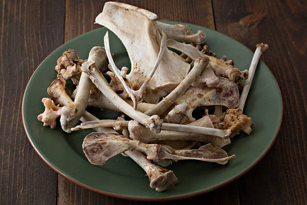thanksgiving turkey los huesos - thanksgiving leftovers fotografías e imágenes de stock