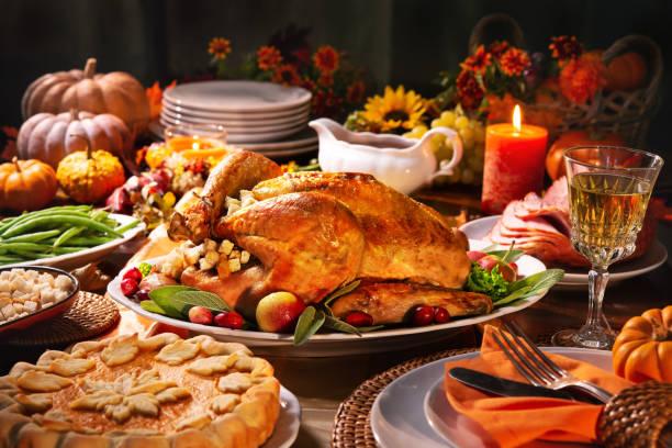 thanksgiving turkey dinner - turkey zdjęcia i obrazy z banku zdjęć
