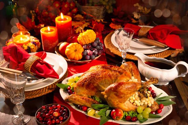 thanksgiving turkey dinner - muita comida imagens e fotografias de stock