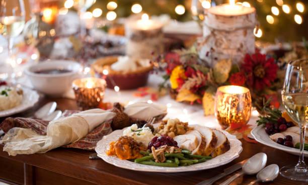 Thanksgiving Türkei Abendessen – Foto