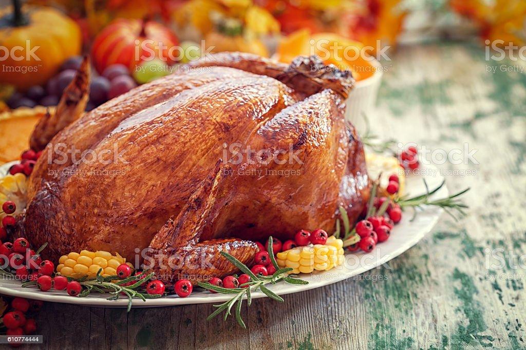 Thanksgiving Turkey la cena - foto de stock
