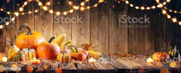 Thanksgiving with pumpkins and corncob on wooden table picture id1027365226?b=1&k=6&m=1027365226&s=612x612&h=ifs4vzkni fs1g7s7r6ksq397jafoiksezisf2ssvxa=