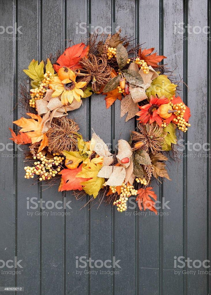 Thanksgiving Wreath stock photo