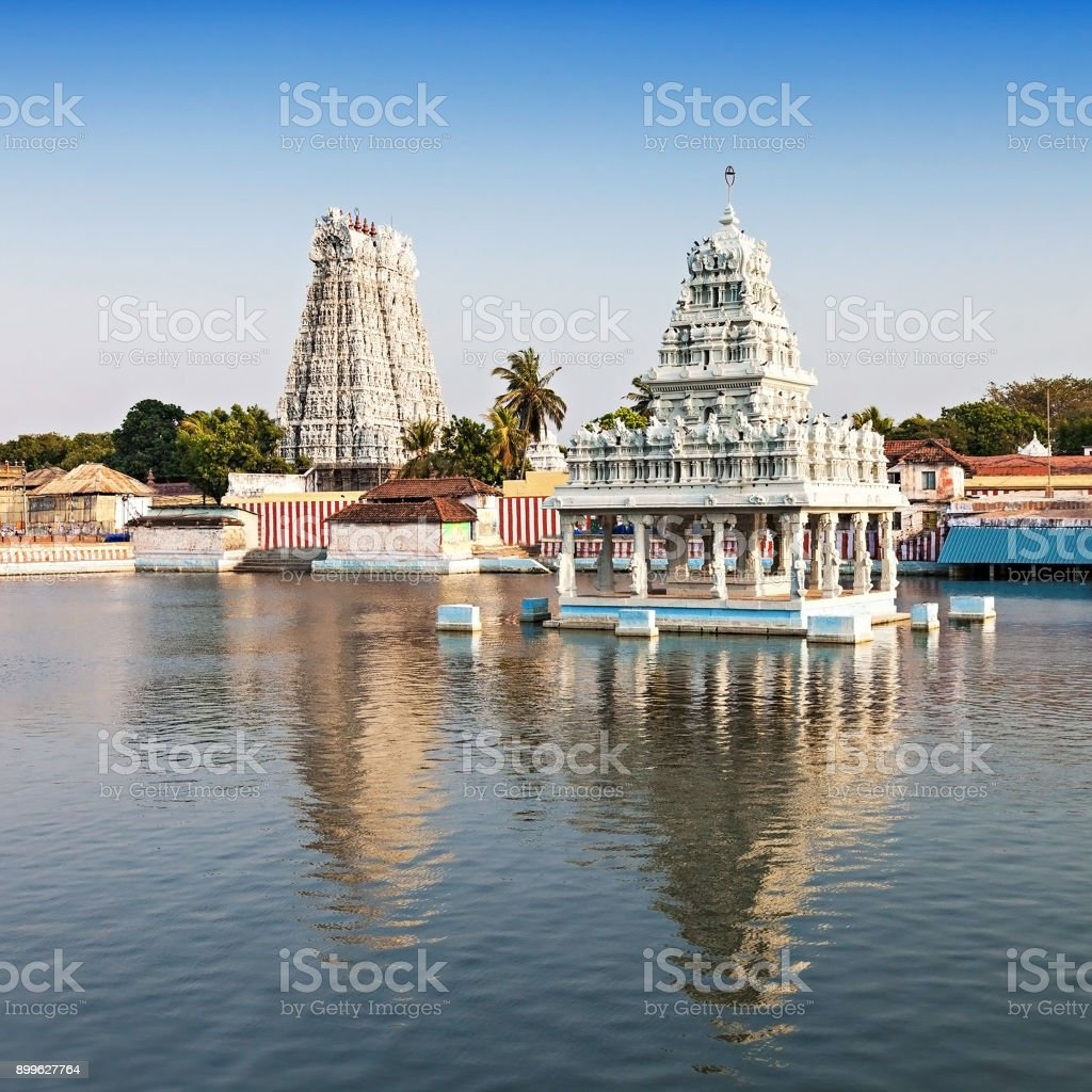 Thanumalayan Temple stock photo