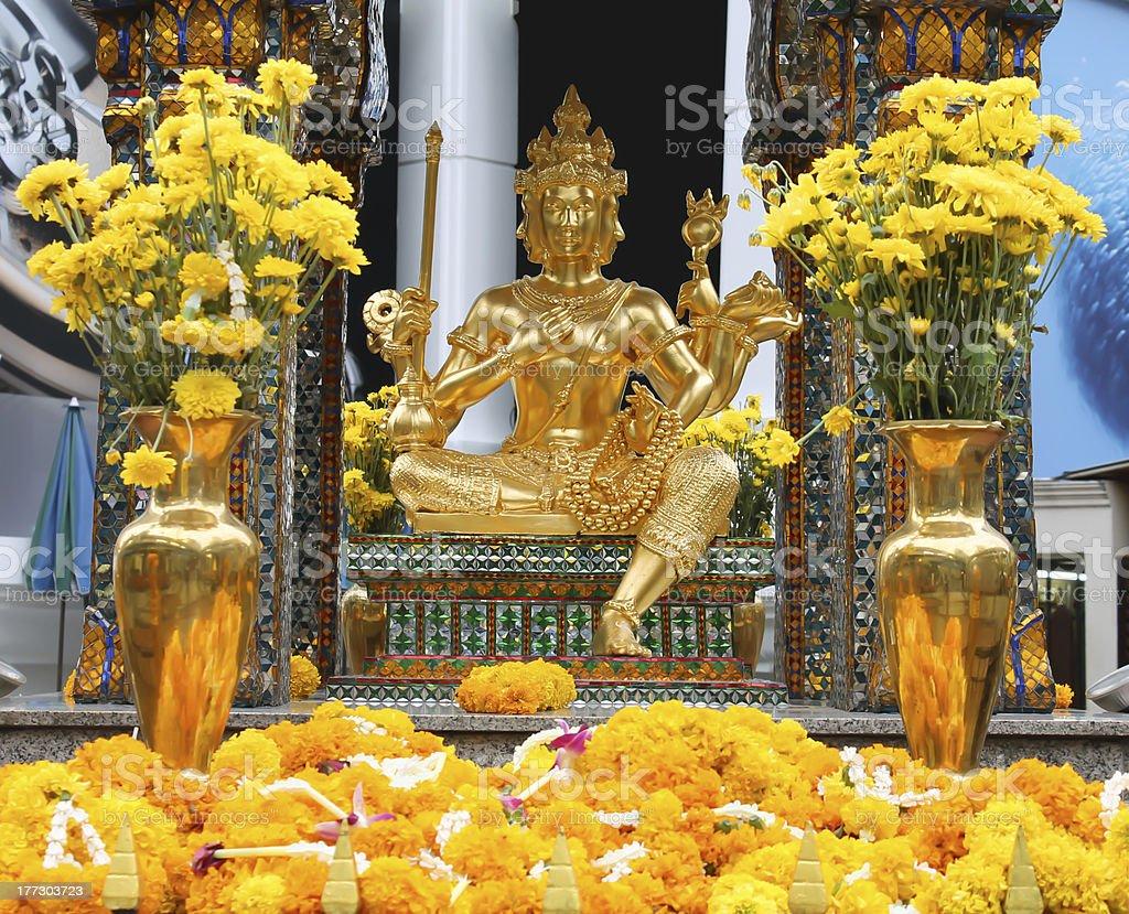 Thao Maha Brahma Erawan shrine in Bangkok, Thailand. royalty-free stock photo