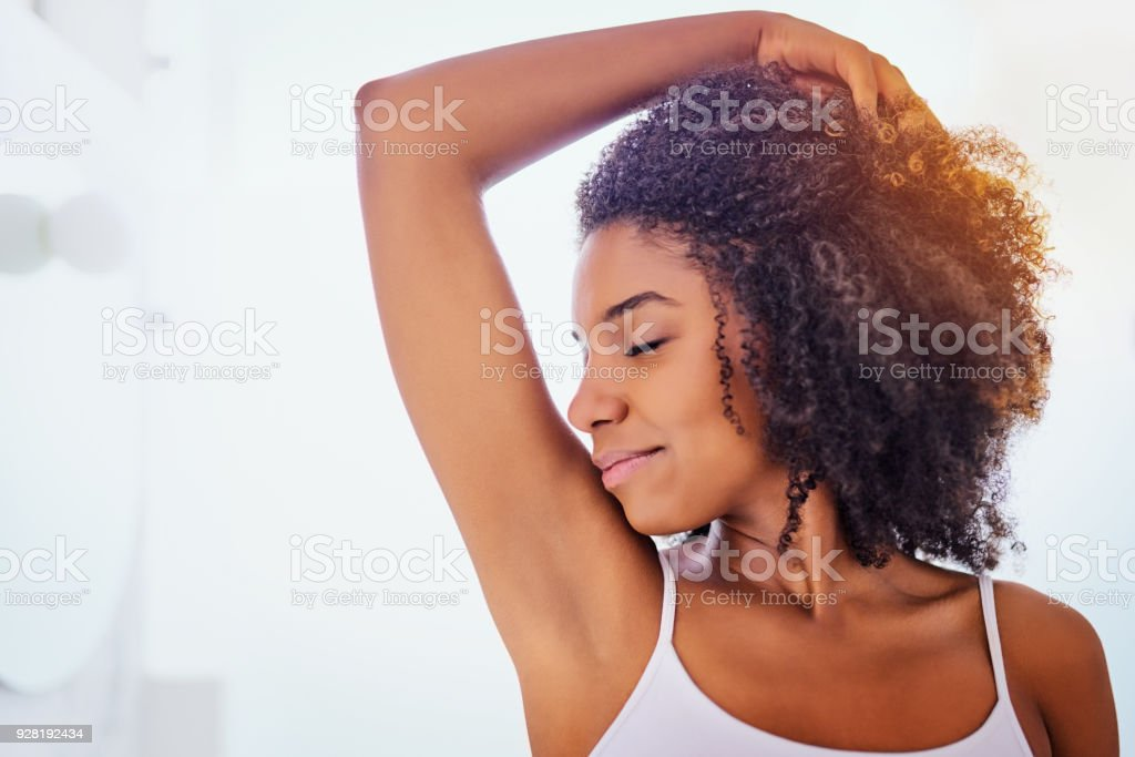 That deodorant is working wonders stock photo