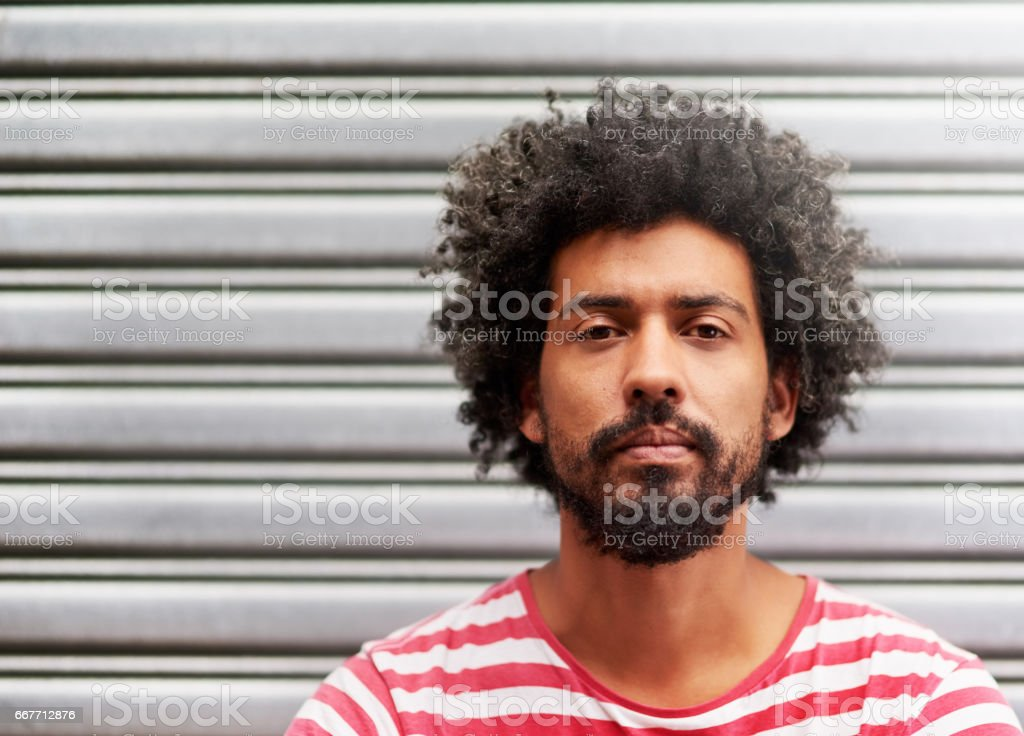 That 'fro though... stock photo
