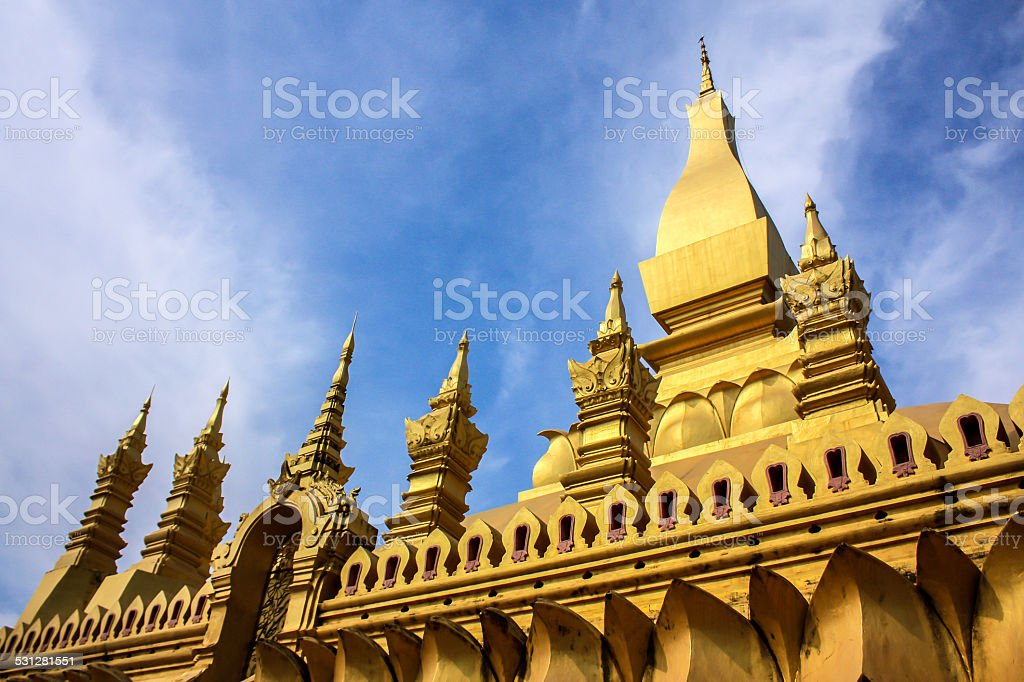 That Luang, Vientiane The Great Stupa stock photo