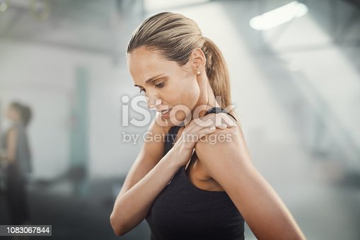 Cropped shot of a sporty young woman suffering from a sport's injury