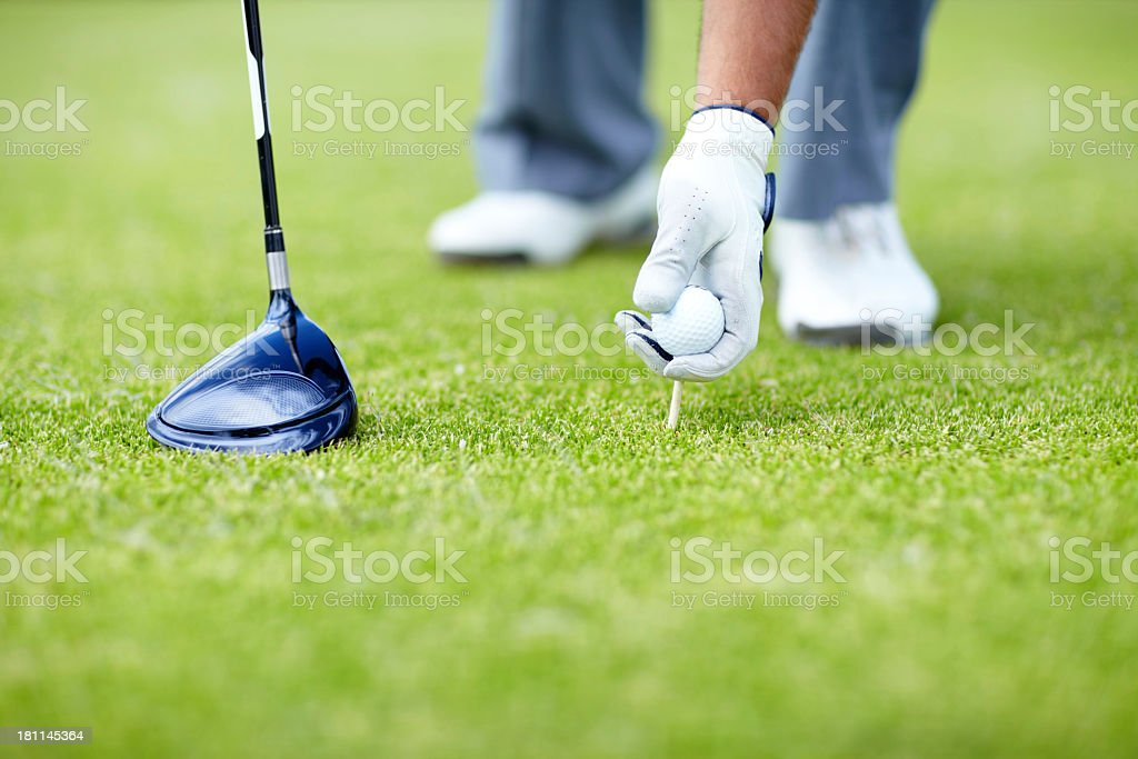 That silence before your shot stock photo