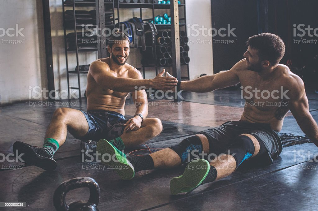 That was a killer workout! stock photo