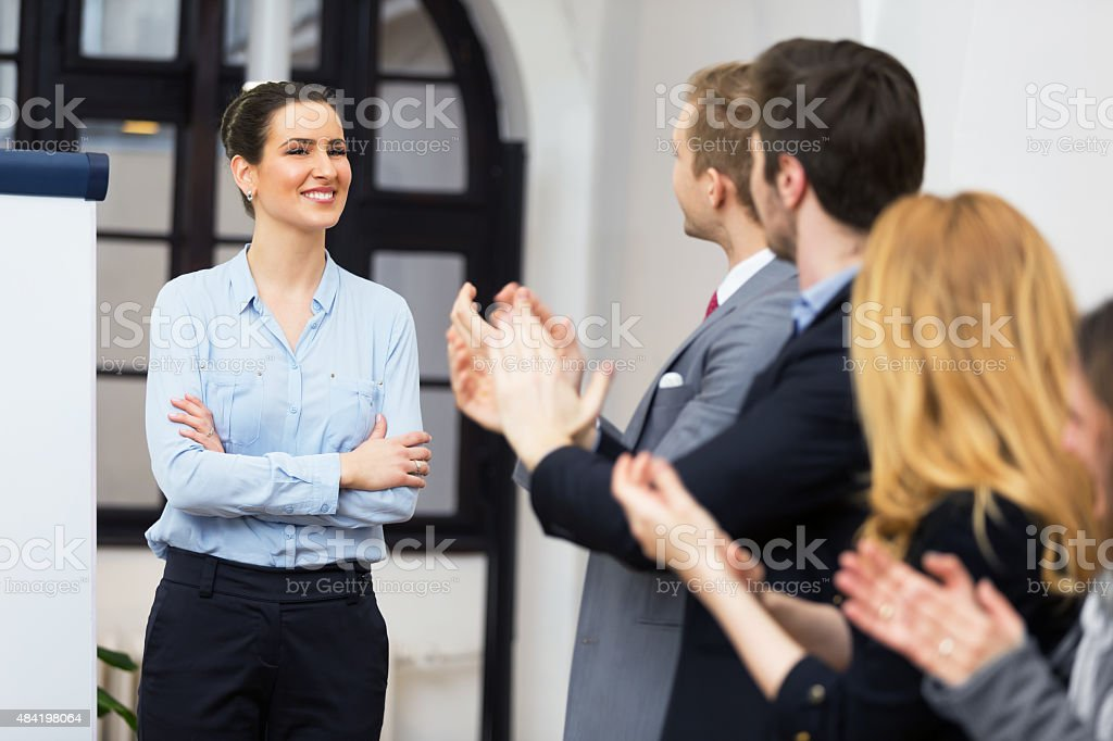 That was great presentation! stock photo