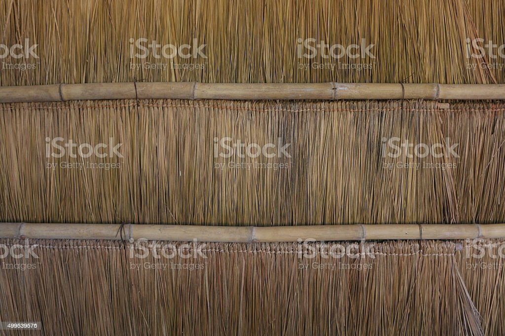 Thatch roof background,grass roof stock photo