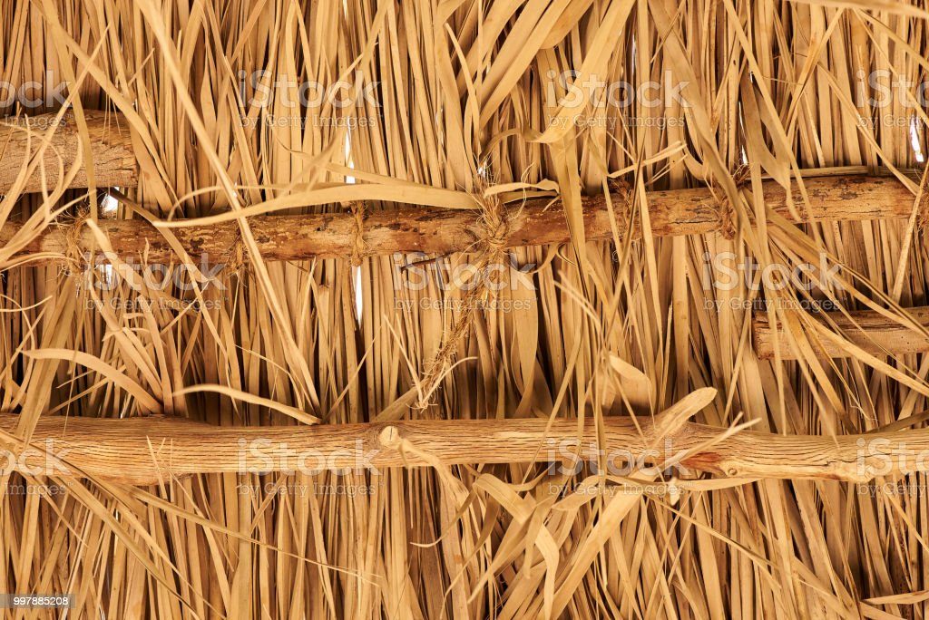 Thatch roof for background stock photo