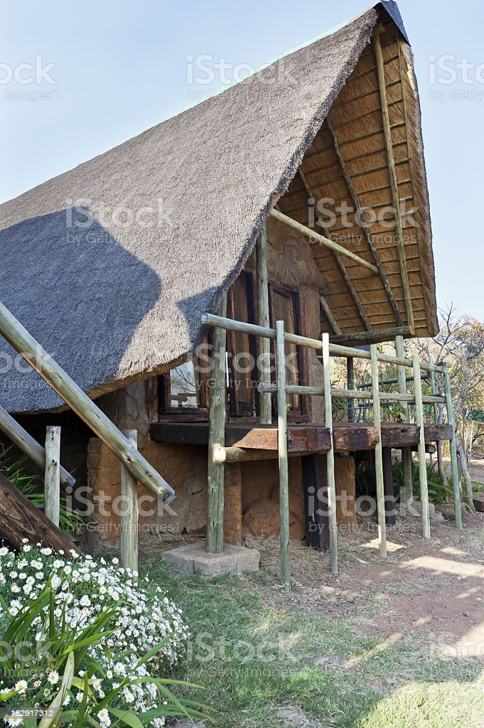 Thatched Chalets at a Nature Reserve royalty-free stock photo