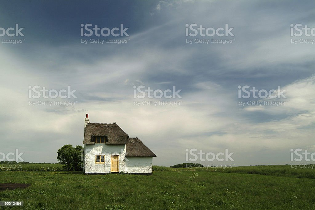 Thatched Cottage 1 stock photo